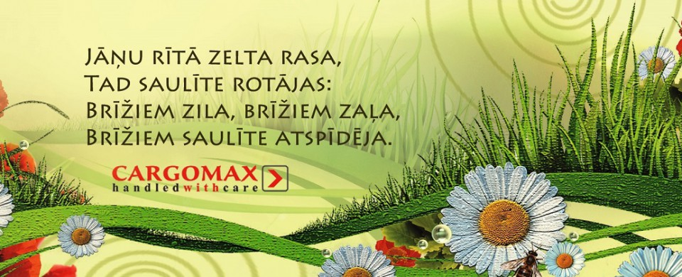 Cargomax novēl Priecīgus Līgo svētkus!