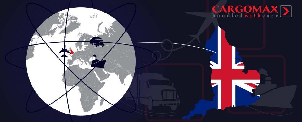 Cargomax nodrošina regulārus kravu pārvadājumus Apvienotās Karalistes virzienā.